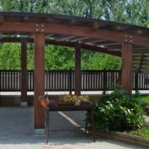 Carport in legno