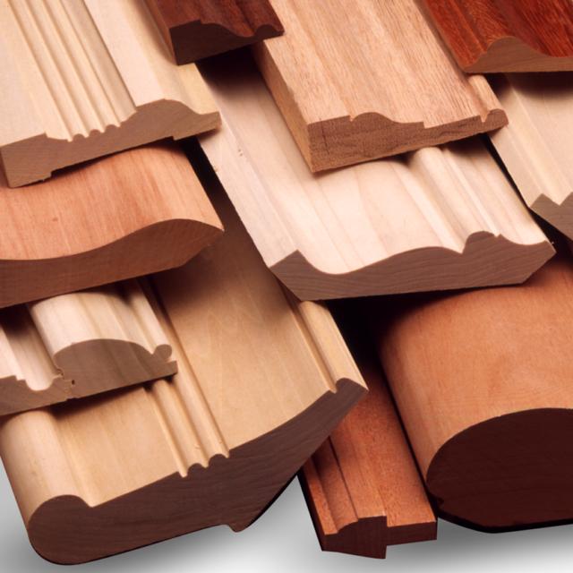 Dettagli di profili in legno